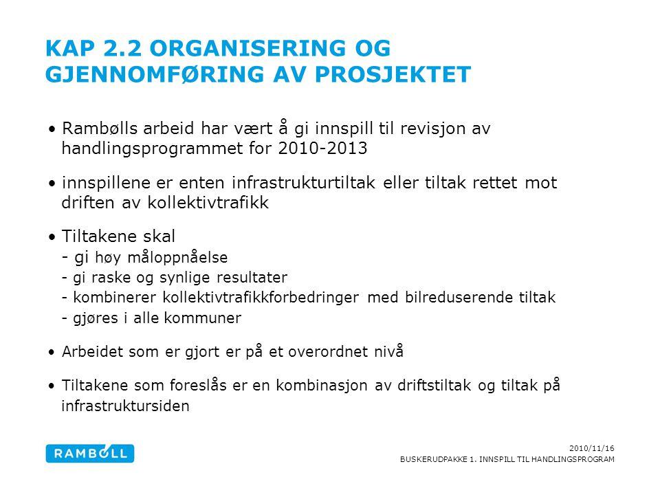 Kap 2.2 Organisering og gjennomføring av prosjektet