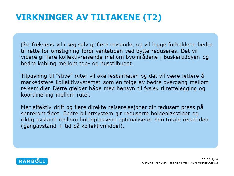 Virkninger av tiltakene (T2)