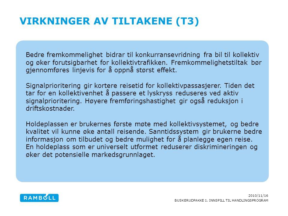 Virkninger av tiltakene (T3)