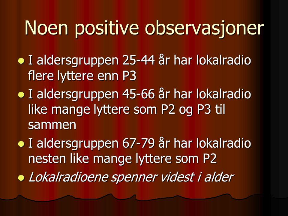 Noen positive observasjoner