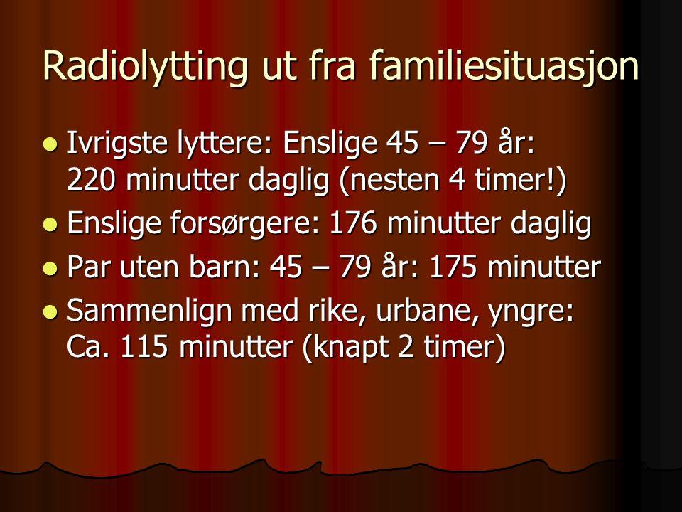Radiolytting ut fra familiesituasjon