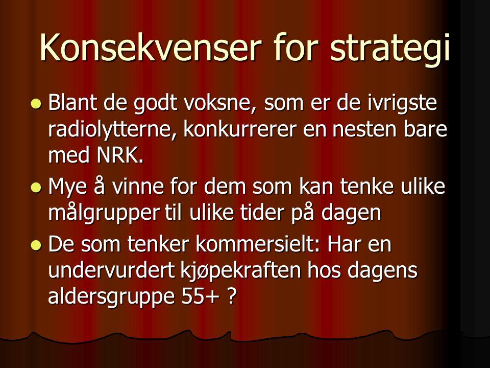 Konsekvenser for strategi
