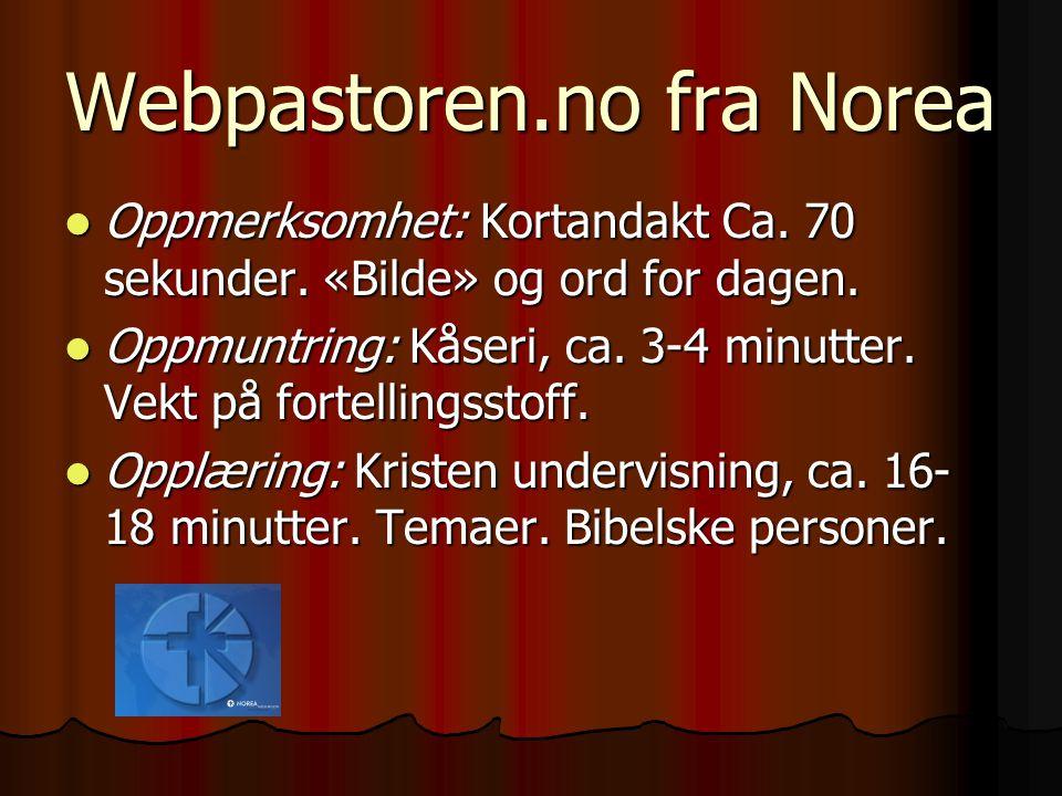 Webpastoren.no fra Norea