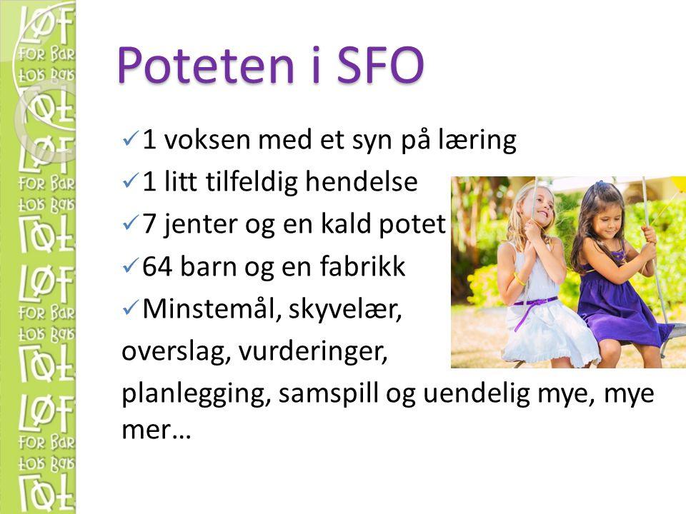 Poteten i SFO 1 voksen med et syn på læring 1 litt tilfeldig hendelse