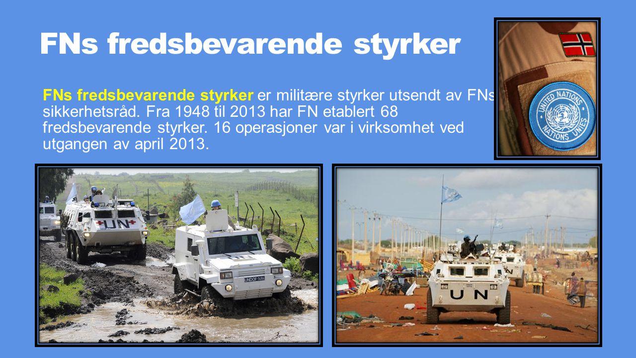 FNs fredsbevarende styrker
