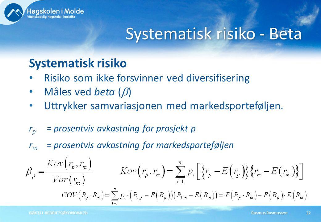 Systematisk risiko - Beta