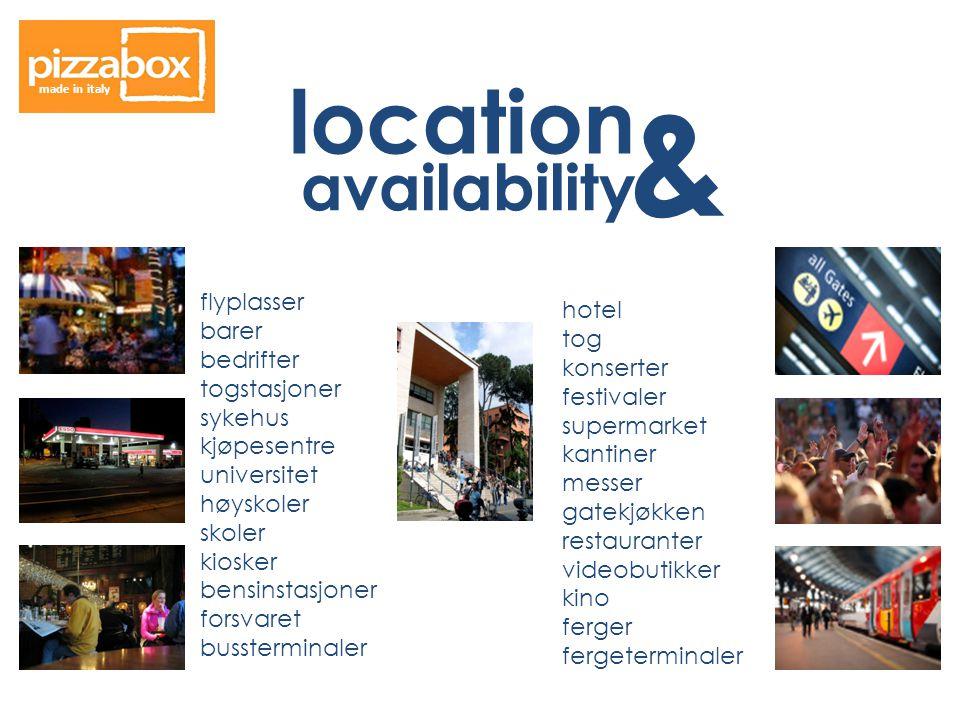 & location availability flyplasser hotel barer tog bedrifter konserter