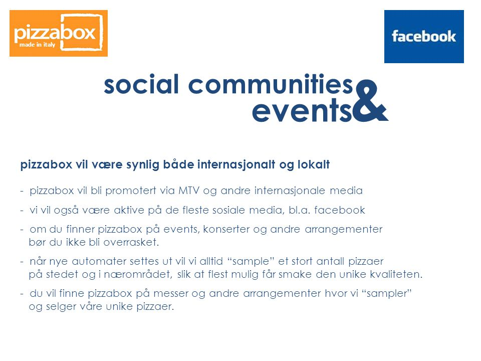 & events social communities