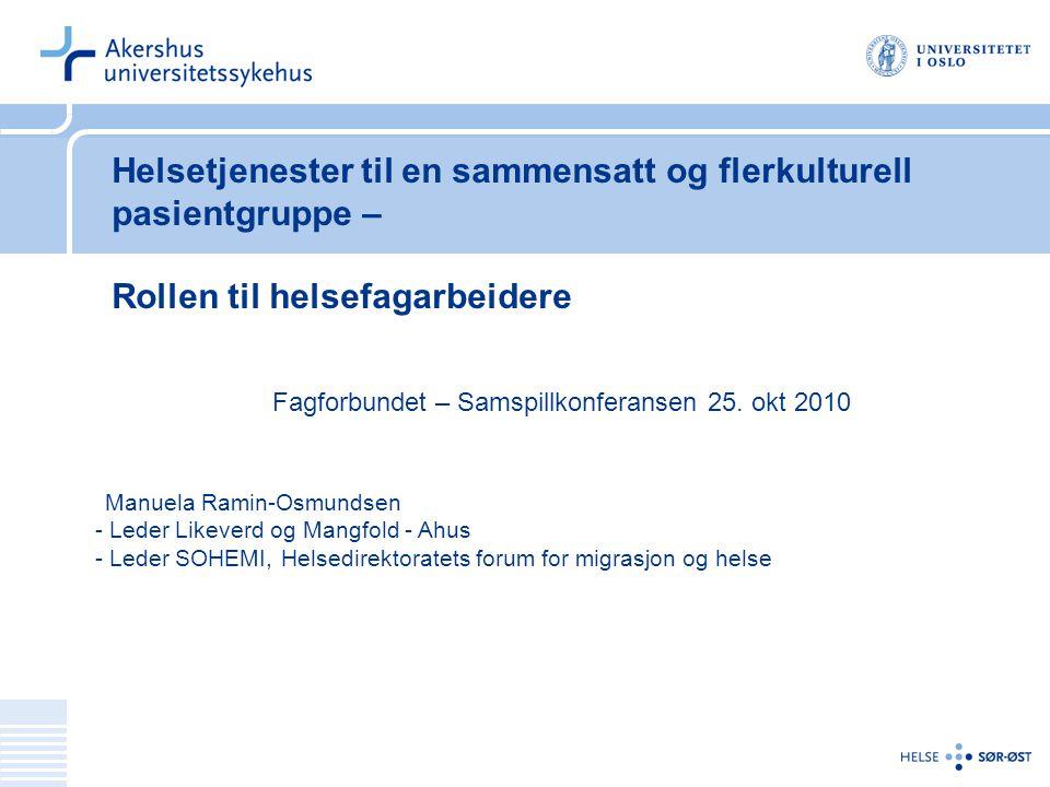Fagforbundet – Samspillkonferansen 25. okt 2010