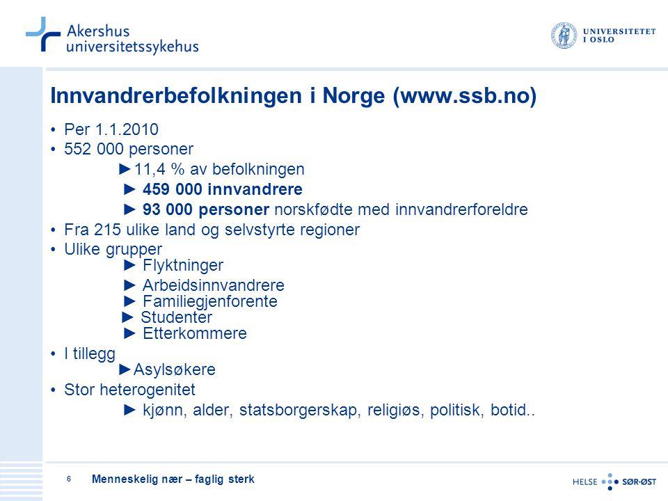 Innvandrerbefolkningen i Norge (www.ssb.no)