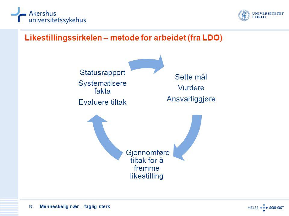 Likestillingssirkelen – metode for arbeidet (fra LDO)