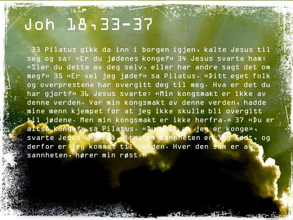 Joh 18,33-37