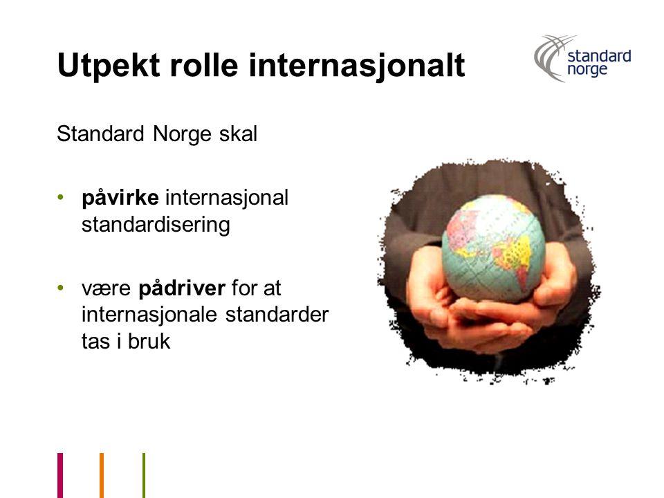 Utpekt rolle internasjonalt