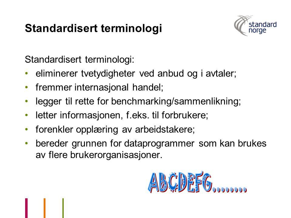 Standardisert terminologi