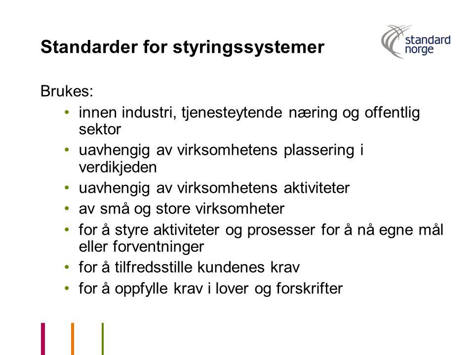 Standarder for styringssystemer