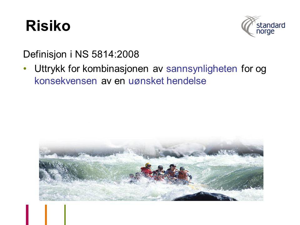 Risiko Definisjon i NS 5814:2008
