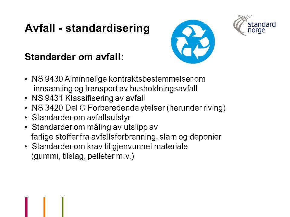 Avfall - standardisering