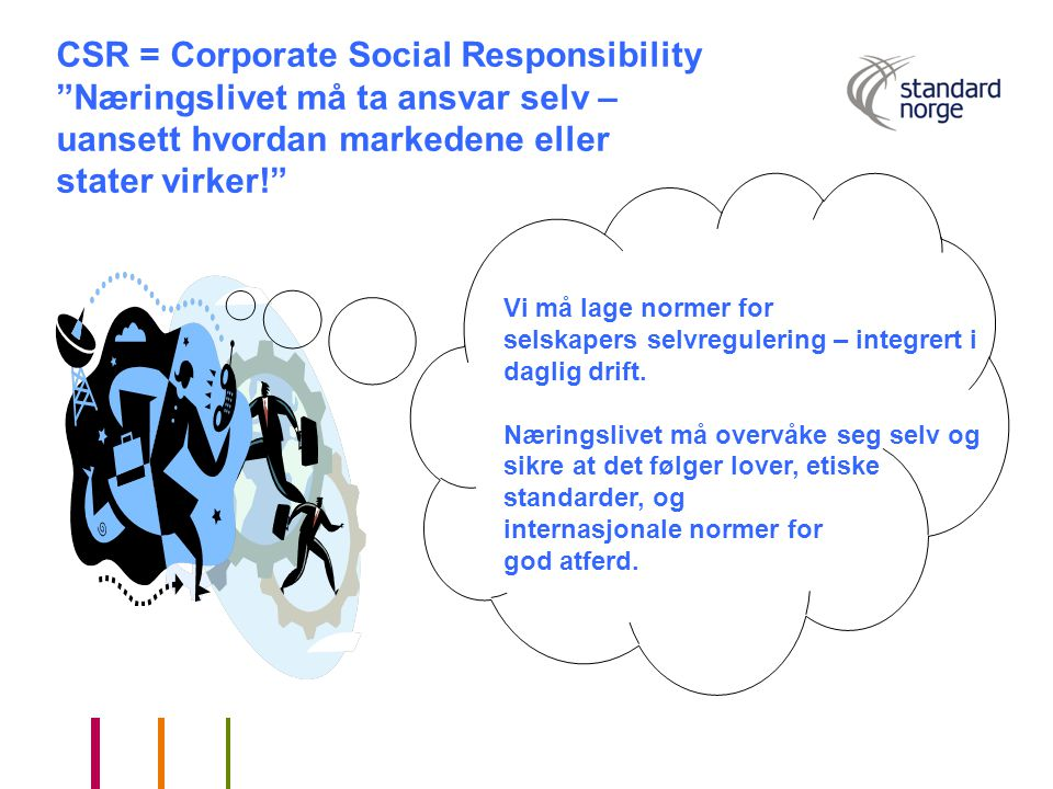 CSR = Corporate Social Responsibility