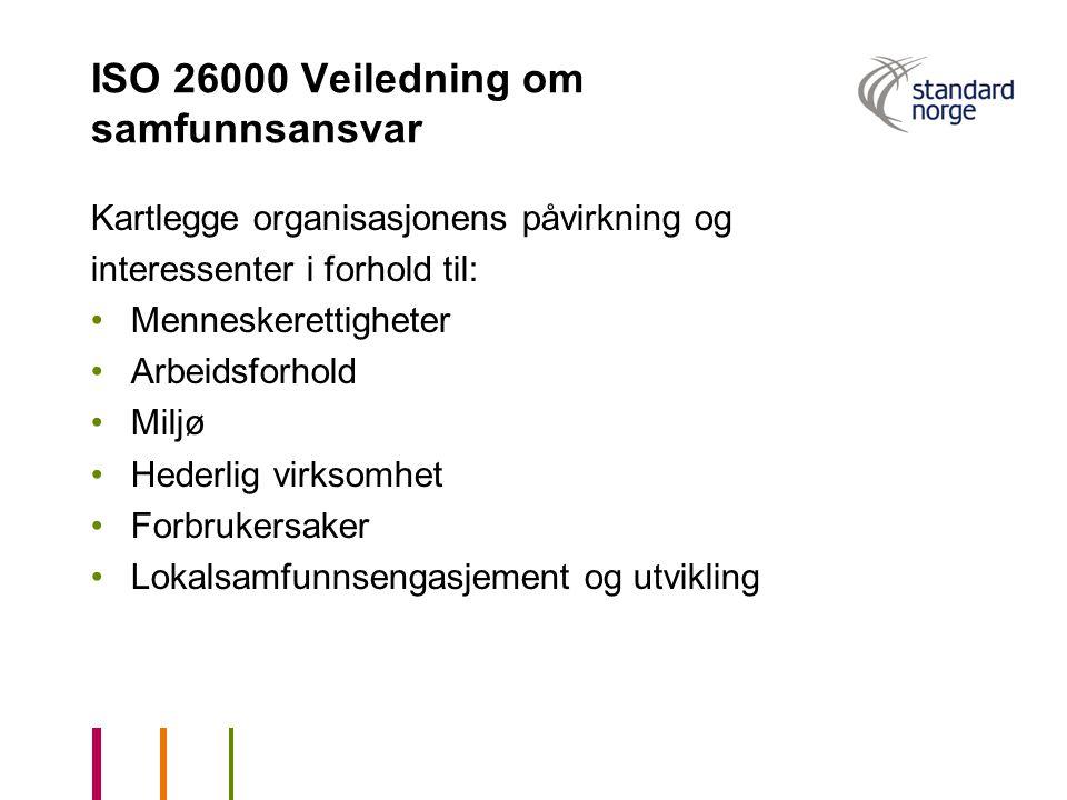 ISO 26000 Veiledning om samfunnsansvar