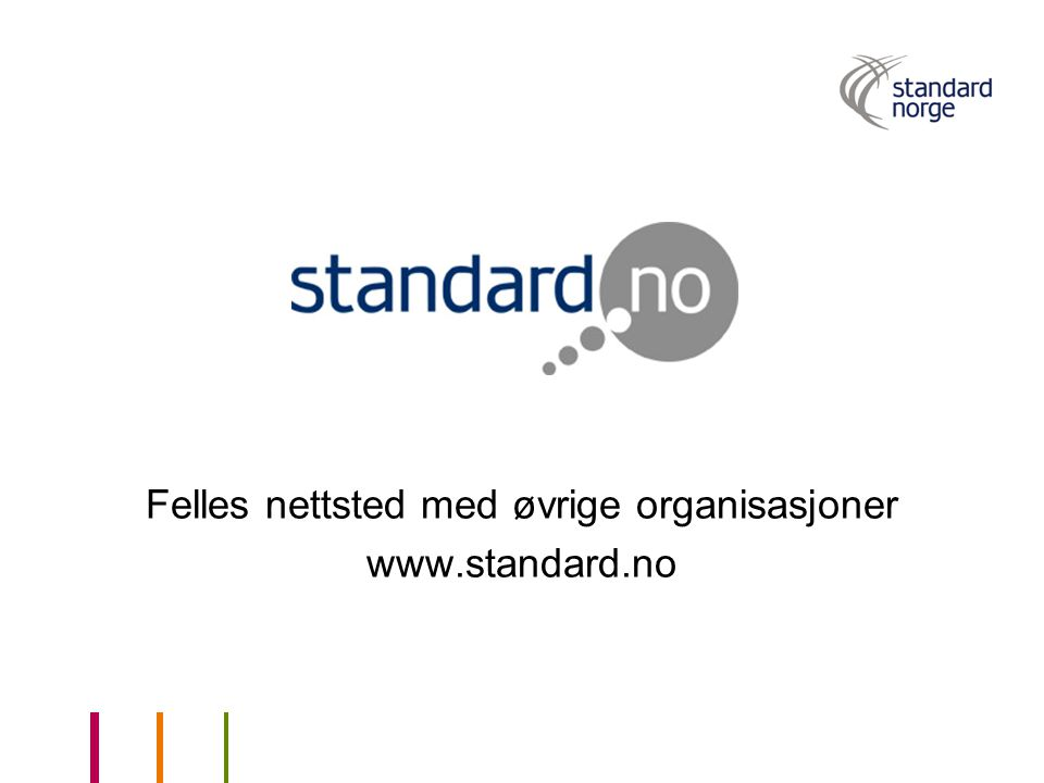 Felles nettsted med øvrige organisasjoner