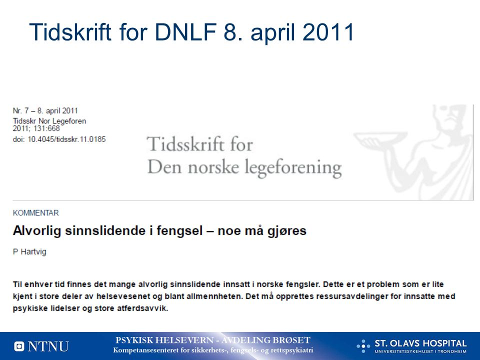 Tidskrift for DNLF 8. april 2011