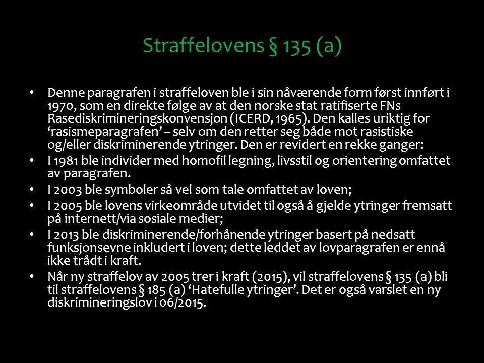 Straffelovens § 135 (a)