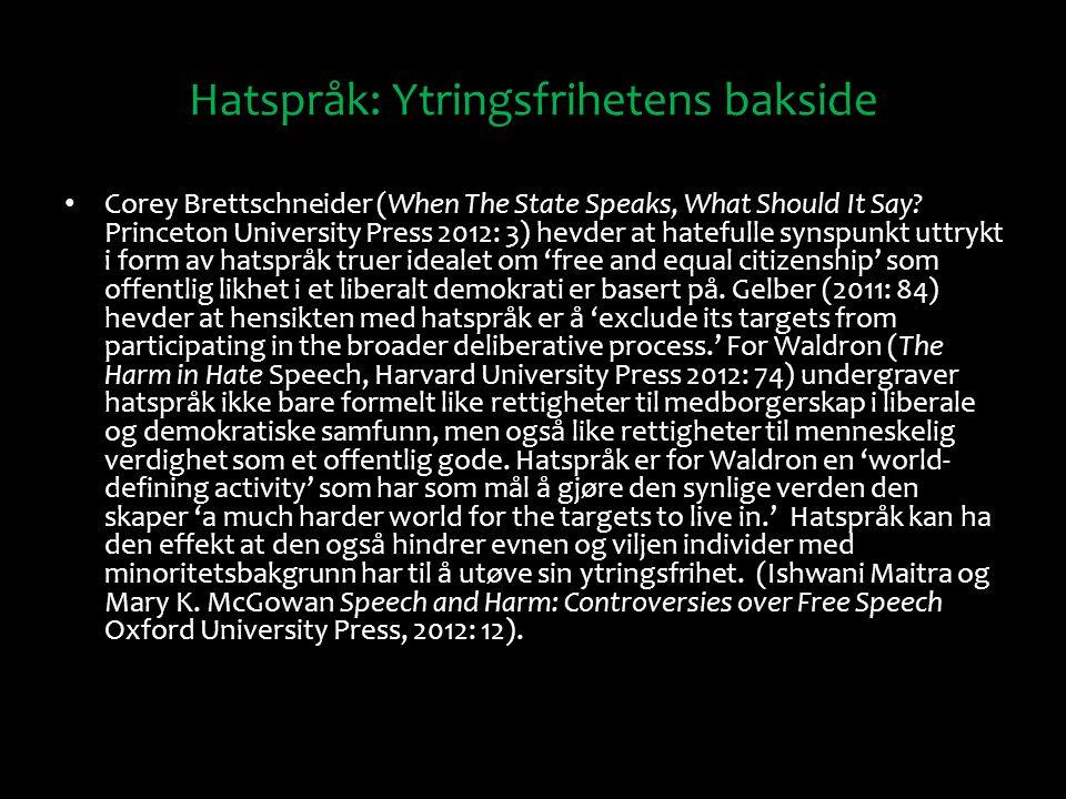 Hatspråk: Ytringsfrihetens bakside