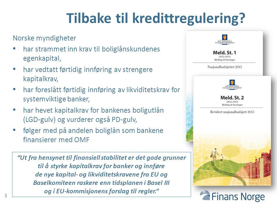 Tilbake til kredittregulering