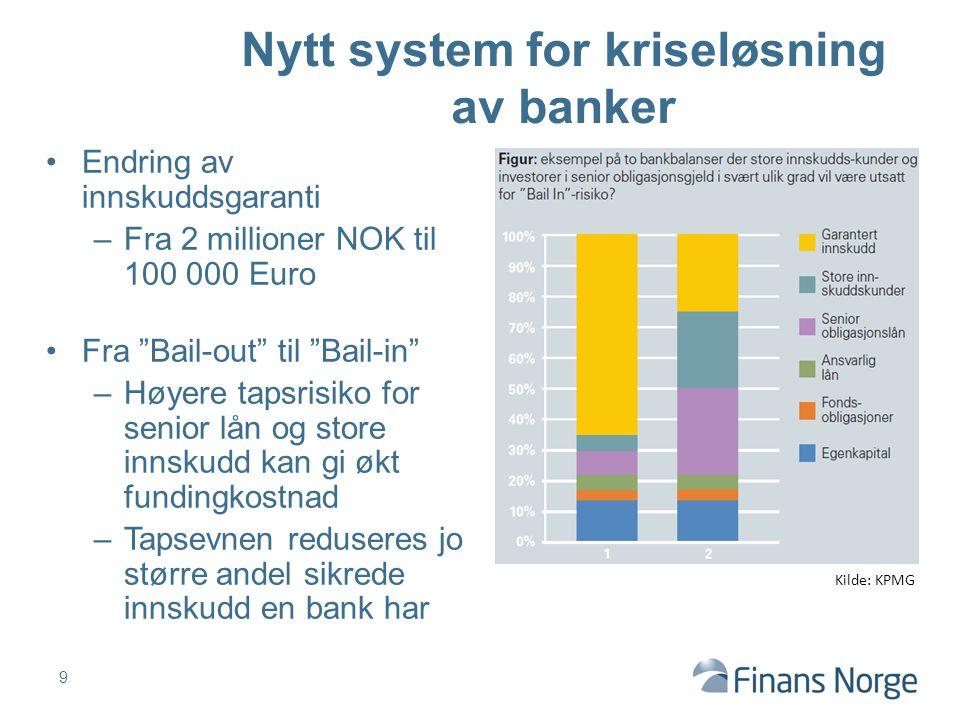 Nytt system for kriseløsning av banker