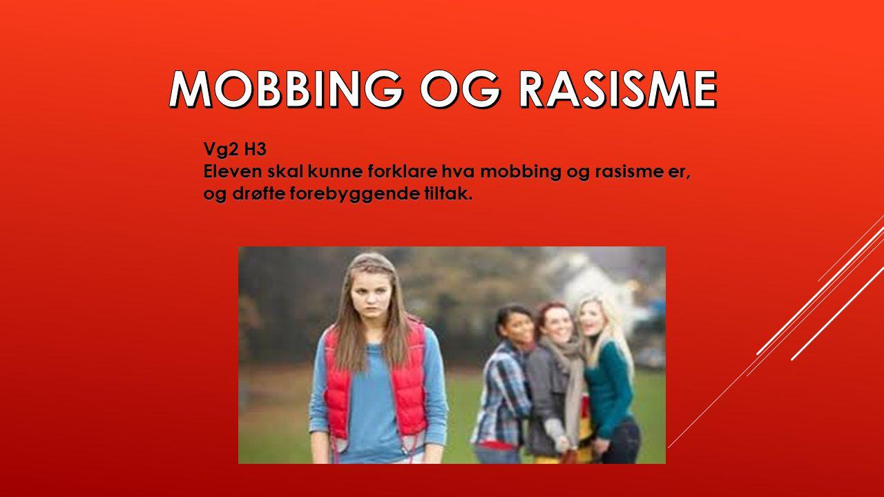 MOBBING OG RASISME Vg2 H3.