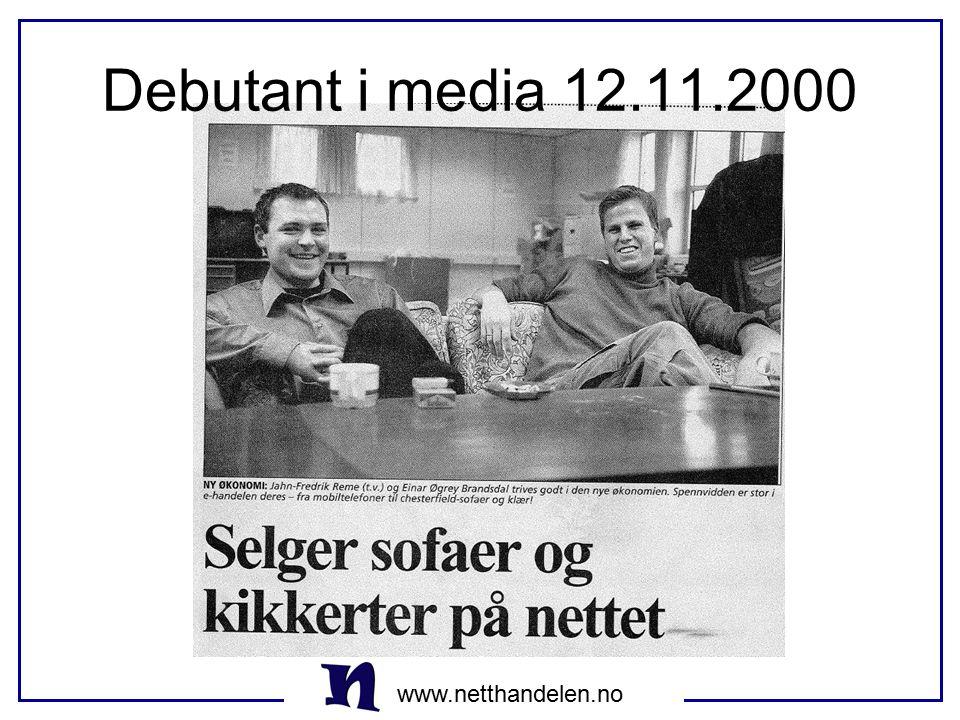 Debutant i media 12.11.2000