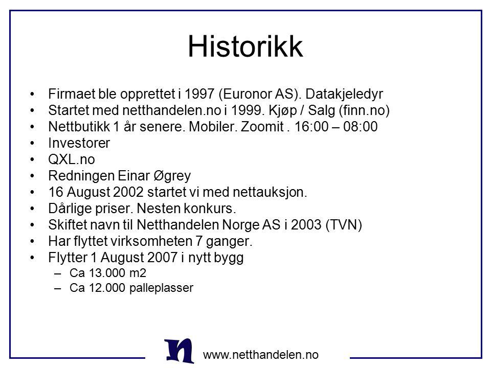 Historikk Firmaet ble opprettet i 1997 (Euronor AS). Datakjeledyr