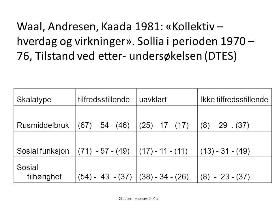 Waal, Andresen, Kaada 1981: «Kollektiv – hverdag og virkninger»