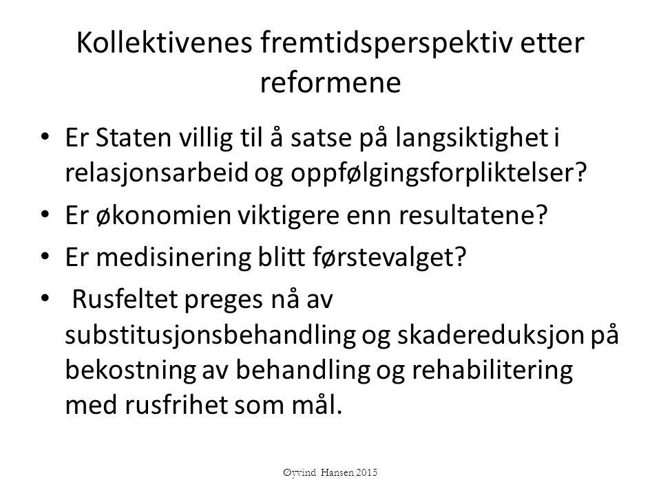Kollektivenes fremtidsperspektiv etter reformene