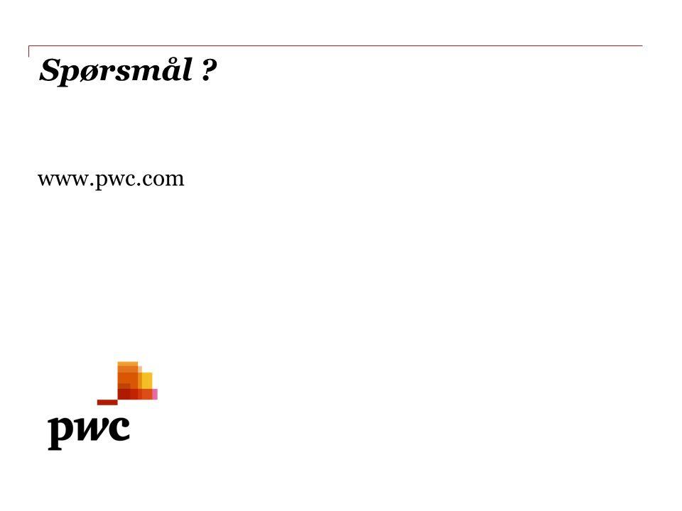 Spørsmål www.pwc.com