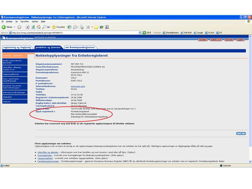 Hvordan finne ut om et selskap er MVA-registrert