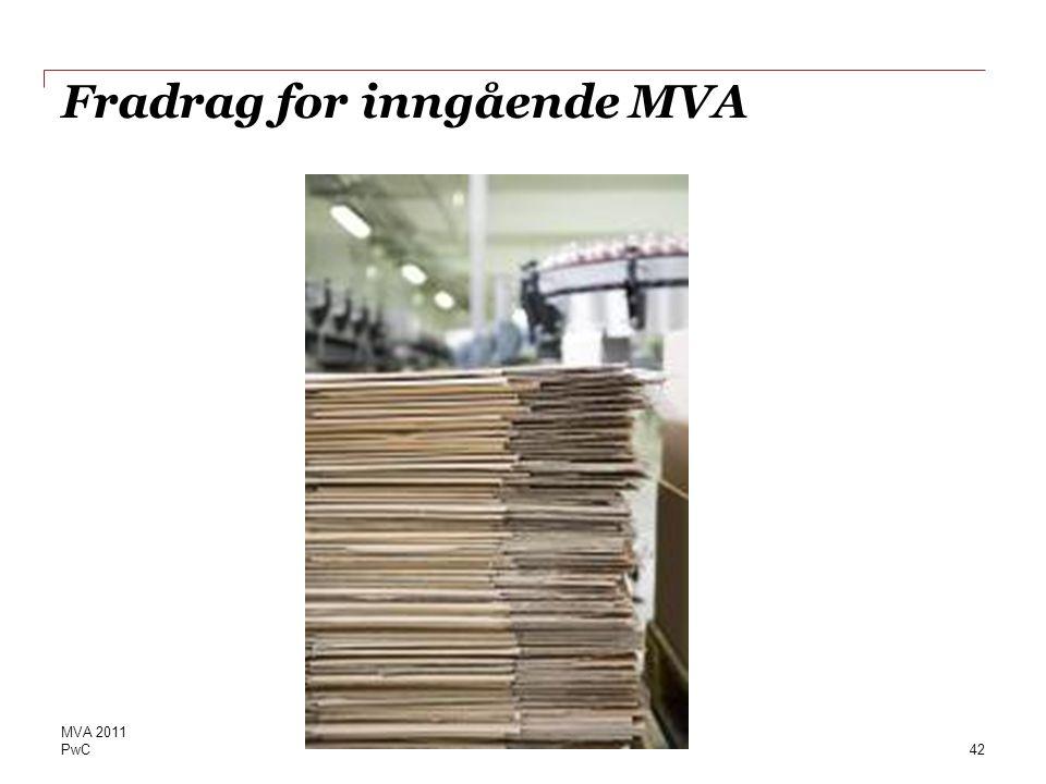 Fradrag for inngående MVA