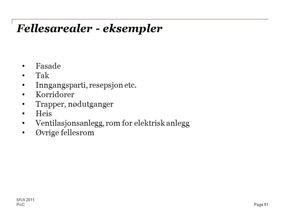 Fellesarealer - eksempler