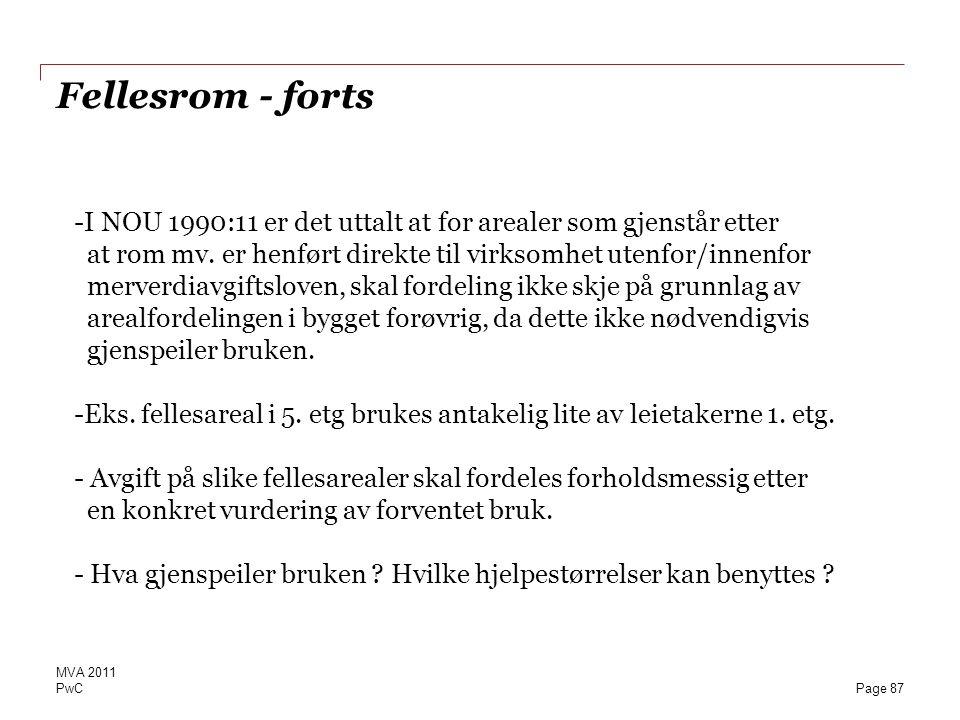Fellesrom - forts
