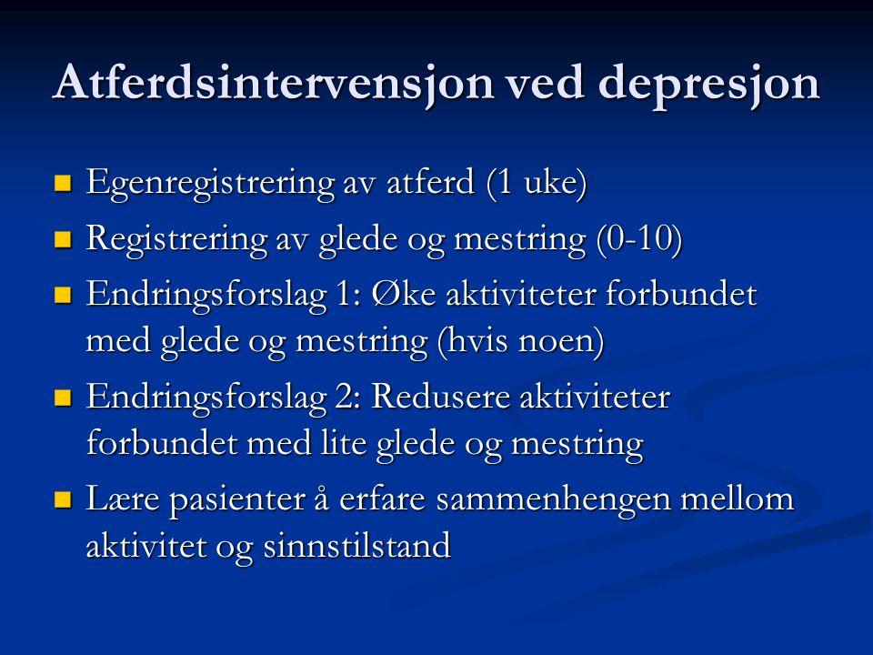 Atferdsintervensjon ved depresjon