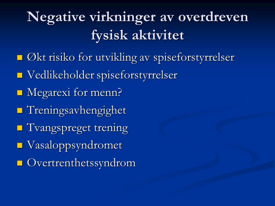 Negative virkninger av overdreven fysisk aktivitet