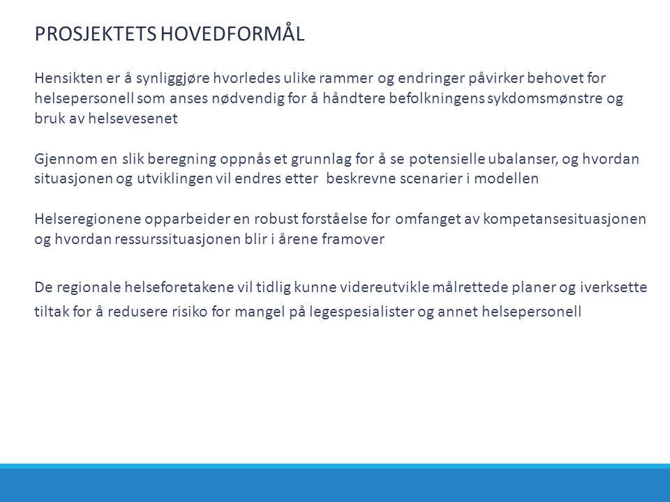 PROSJEKTETS HOVEDFORMÅL