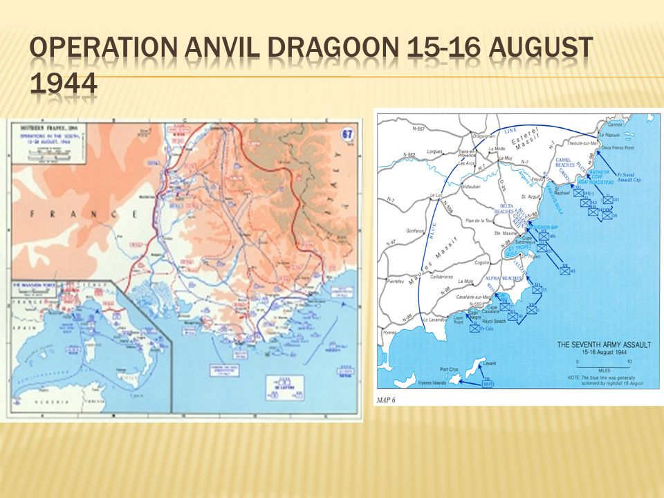 Operation Anvil Dragoon 15-16 august 1944