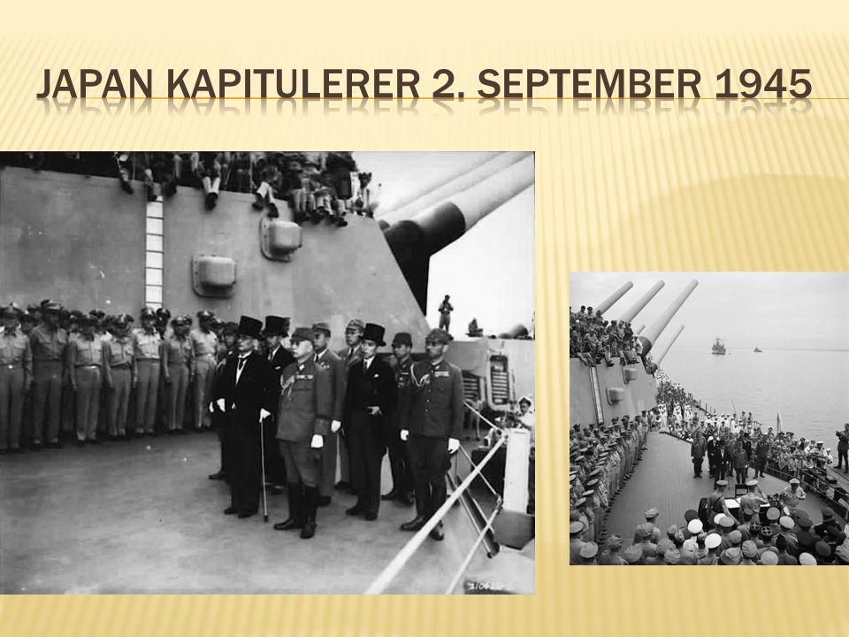 Japan kapitulerer 2. september 1945