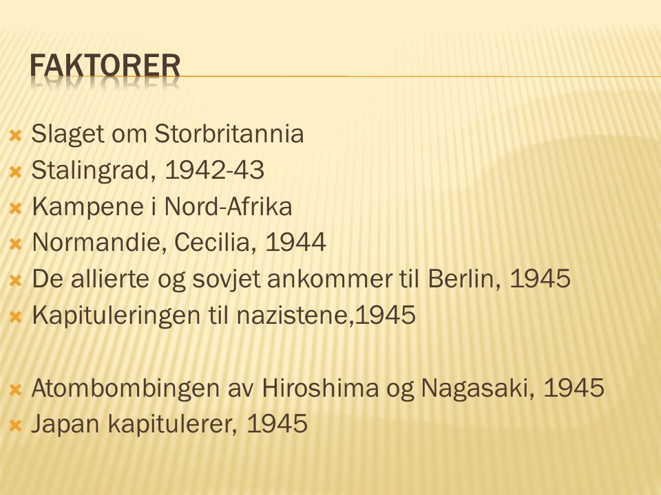 Faktorer Slaget om Storbritannia Stalingrad, 1942-43