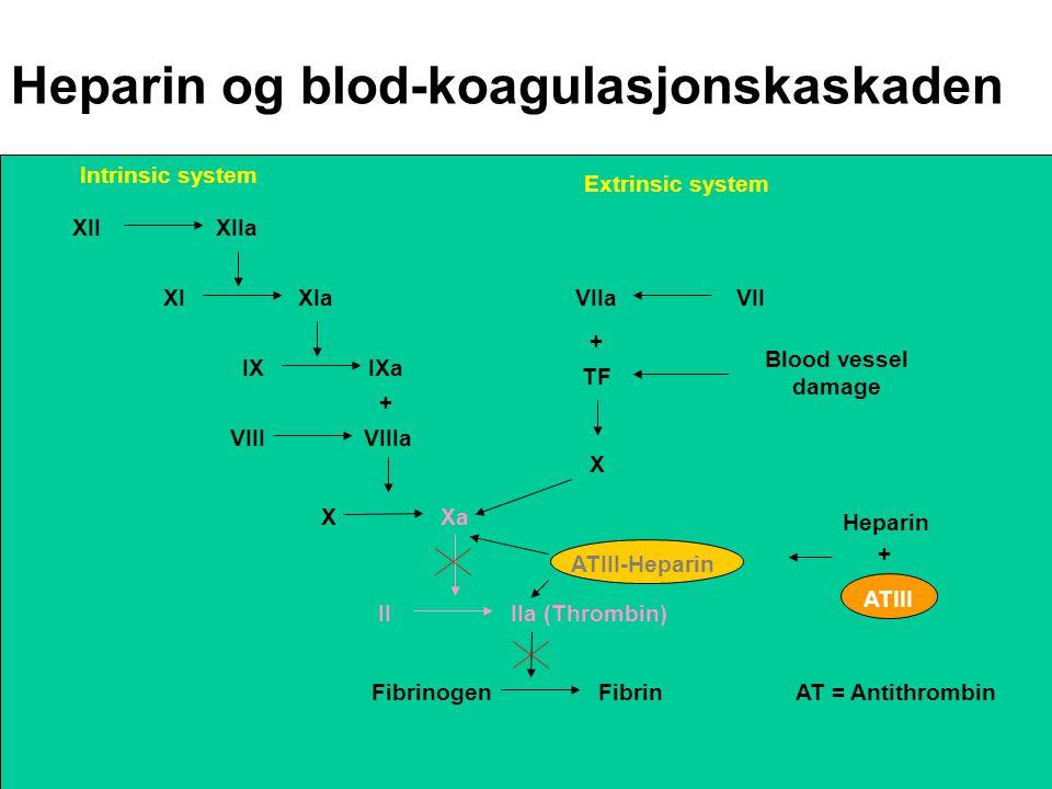 Heparin og blod-koagulasjonskaskaden