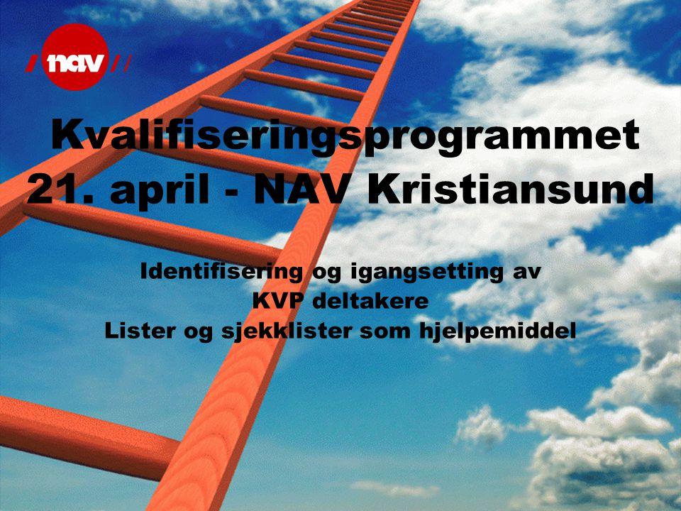 21. april - NAV Kristiansund