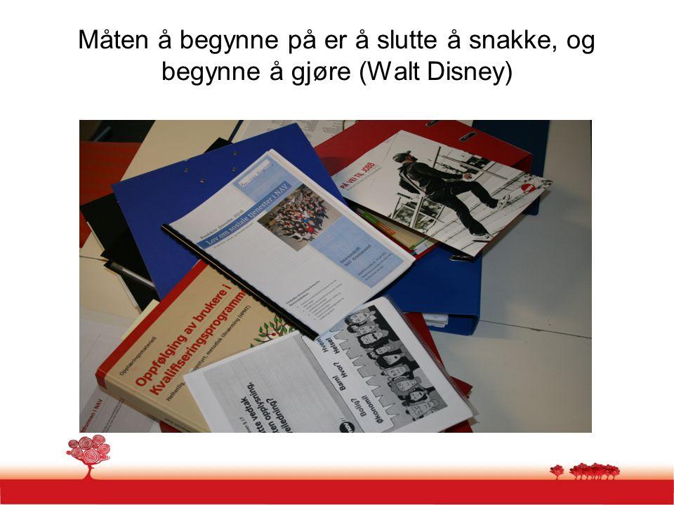 Måten å begynne på er å slutte å snakke, og begynne å gjøre (Walt Disney)