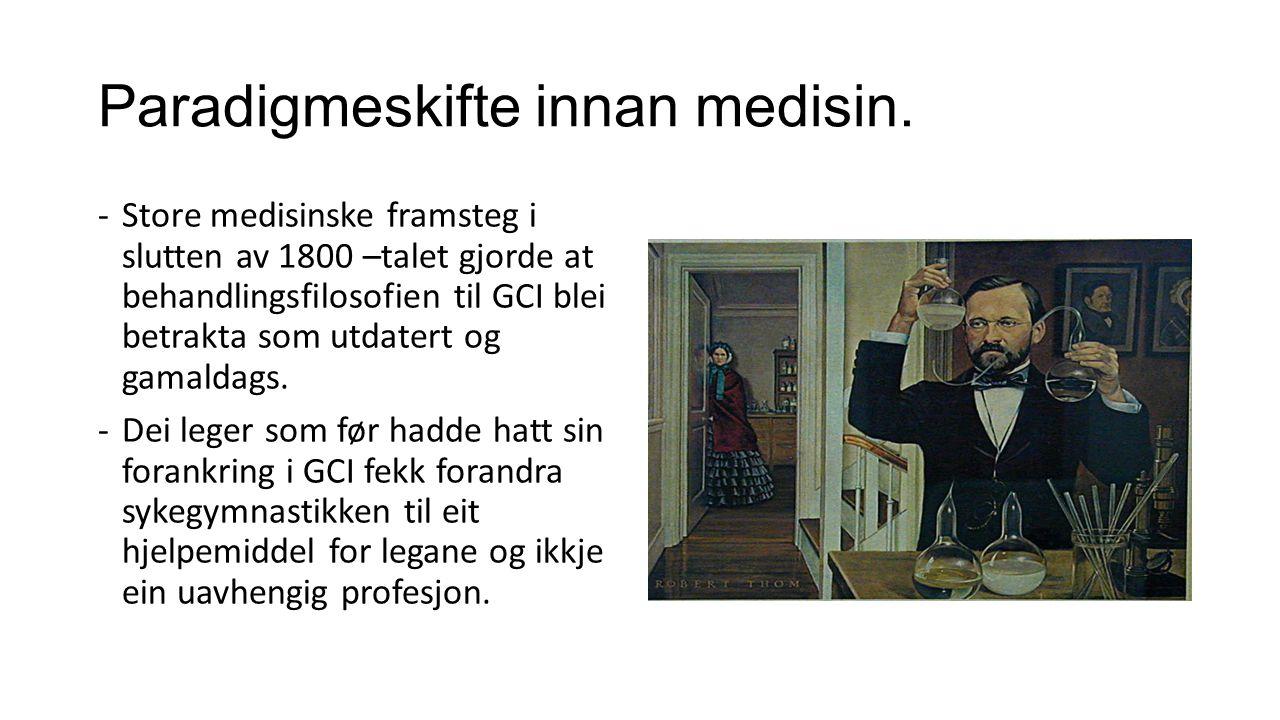 Paradigmeskifte innan medisin.