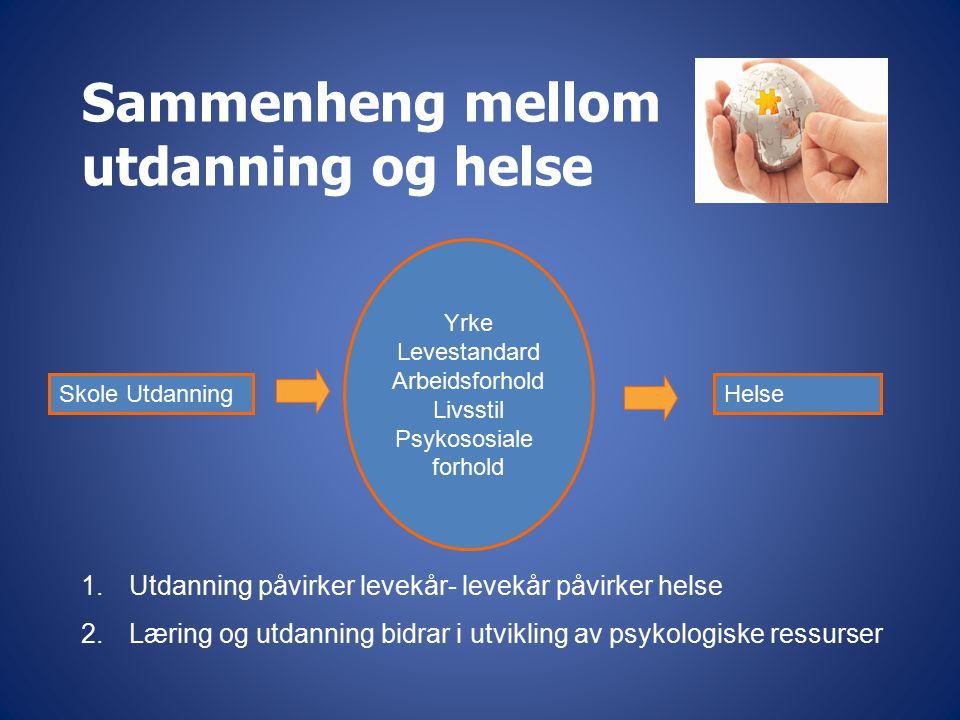 Sammenheng mellom utdanning og helse